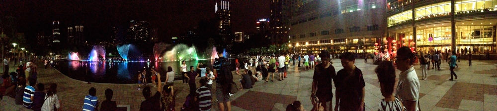 Outside KLCC at night