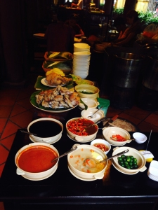 "A food ""stall"" at Quan An Ngoc. Dozens of these lined the dining area."