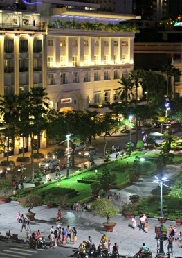 A view from SH Garden - the main square at night