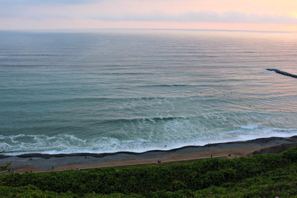The coast line of Lima